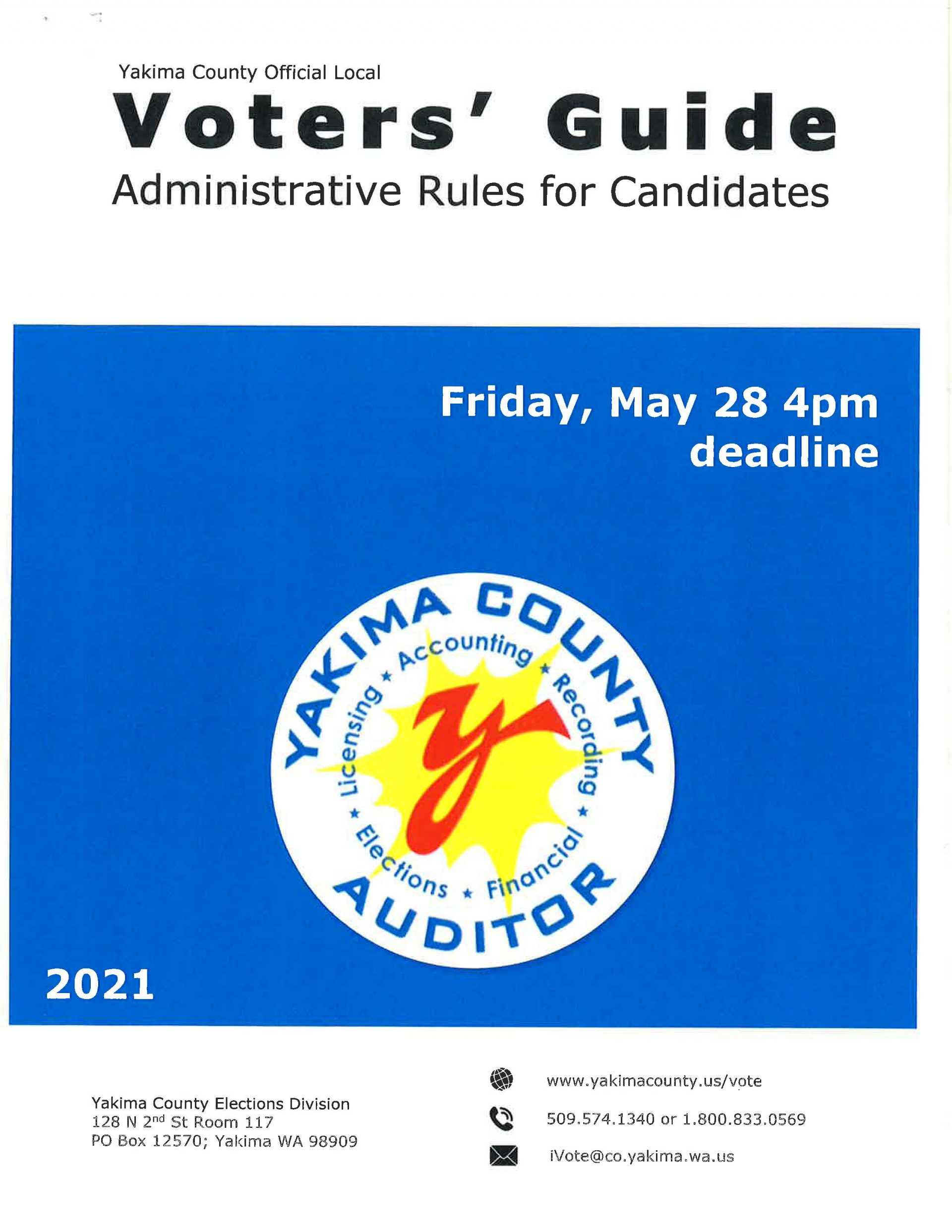 Voters Guide – Rules for Candidates